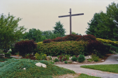 Cross at Pallottine Renewal Center, which hosts St. Louis Handicapped Encounter Christ retreats.